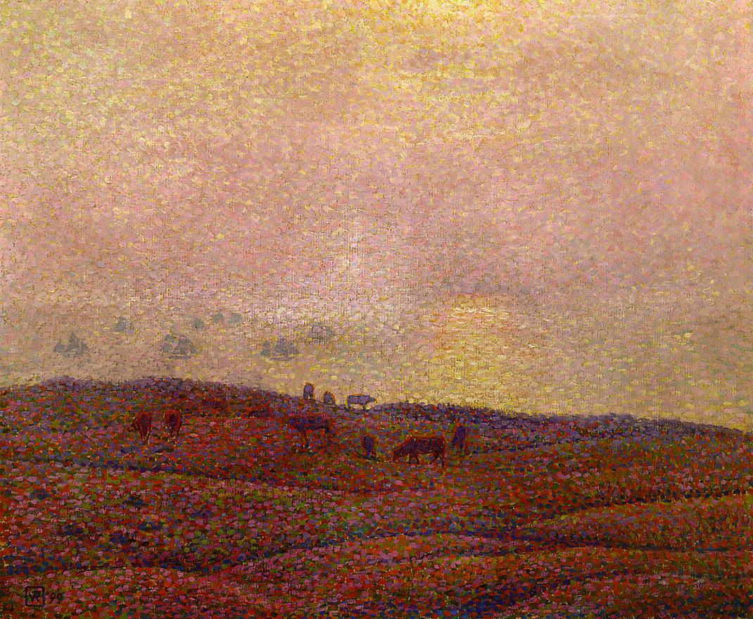 Cows in a Landscape 1899 | Theo Van Rysselberghe | oil painting