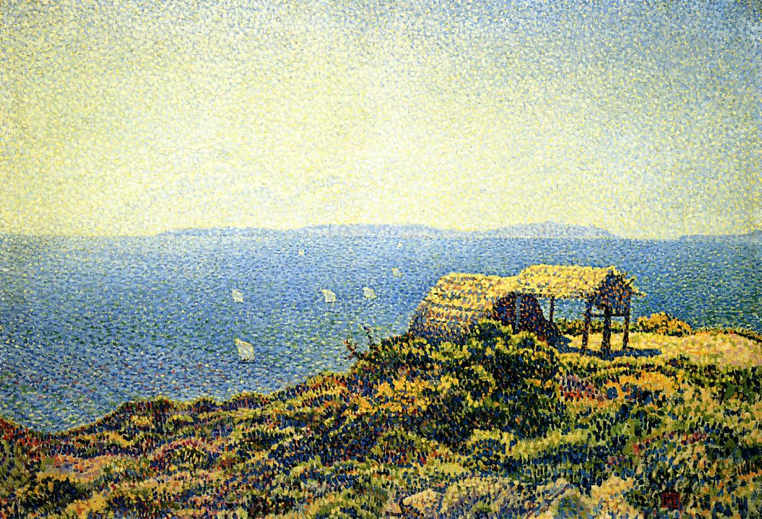 Ile du Levant View from Cape Benat Brittany 1892-1893 | Theo Van Rysselberghe | oil painting
