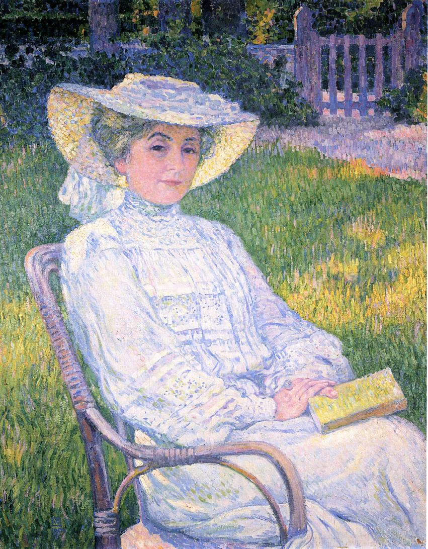 Madame Theo van Rysselberghe in the Garden 1904 | Theo Van Rysselberghe | oil painting
