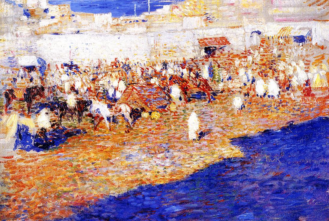 Maroccan Market 1887 | Theo Van Rysselberghe | oil painting
