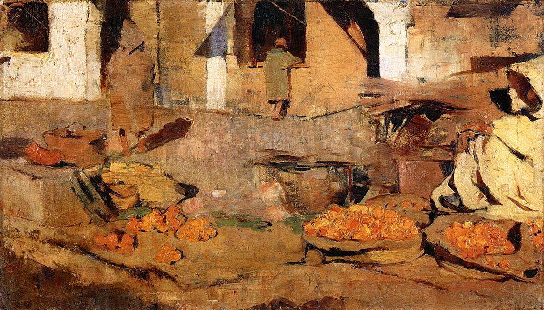 Moroccan Fruit Market 1882-1883 | Theo Van Rysselberghe | oil painting