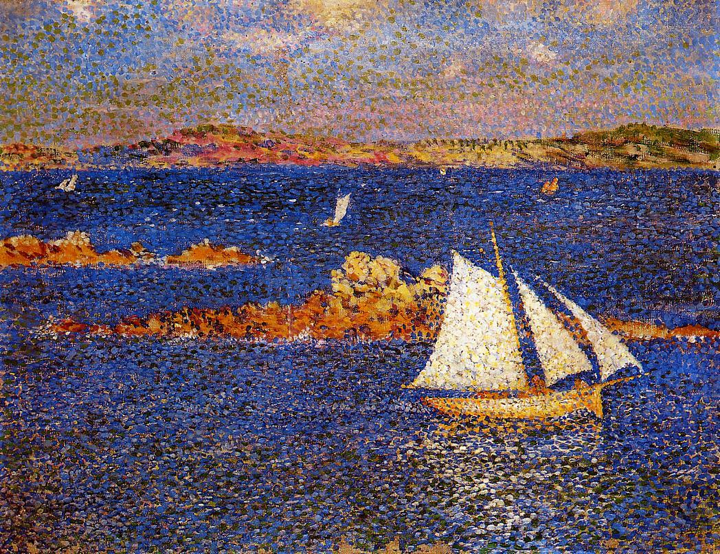 Near the Rocks of Per-Kiridec 1889 | Theo Van Rysselberghe | oil painting