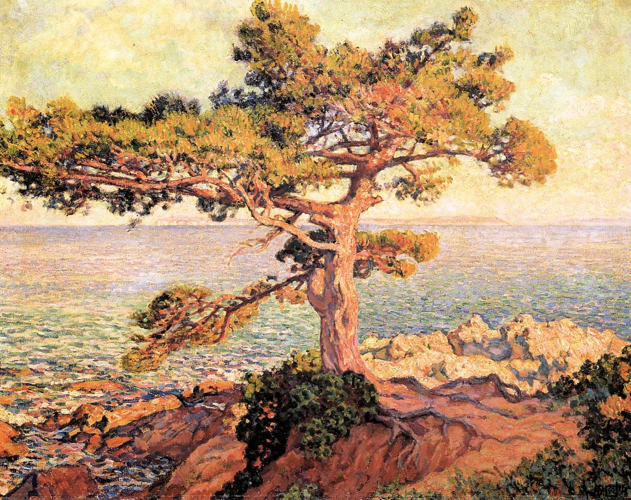 Pine by the Mediterranean Sea 1916 | Theo Van Rysselberghe | oil painting