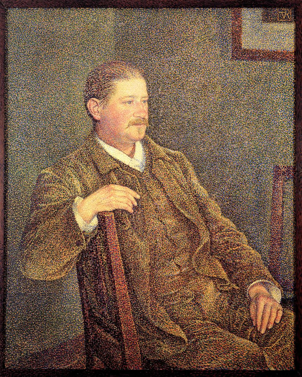 Portrait of Auguste Weber 1892 | Theo Van Rysselberghe | oil painting