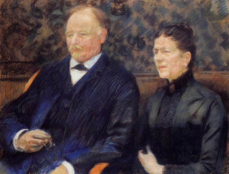 Portrait of Frederic-Gustave Scholobach and His Wife 1892 | Theo Van Rysselberghe | oil painting