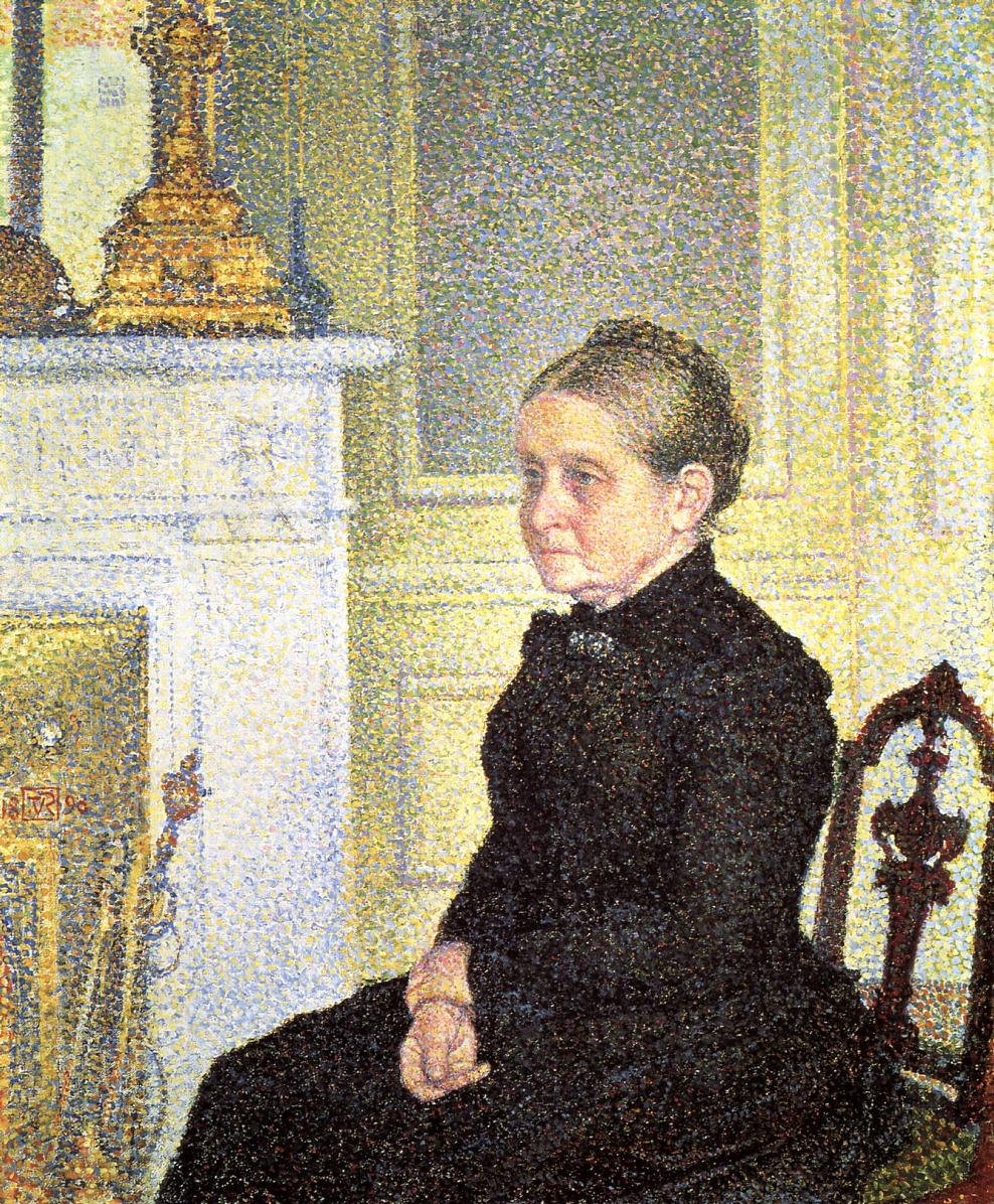 Portrait of Madame Charles Maus 1890 | Theo Van Rysselberghe | oil painting