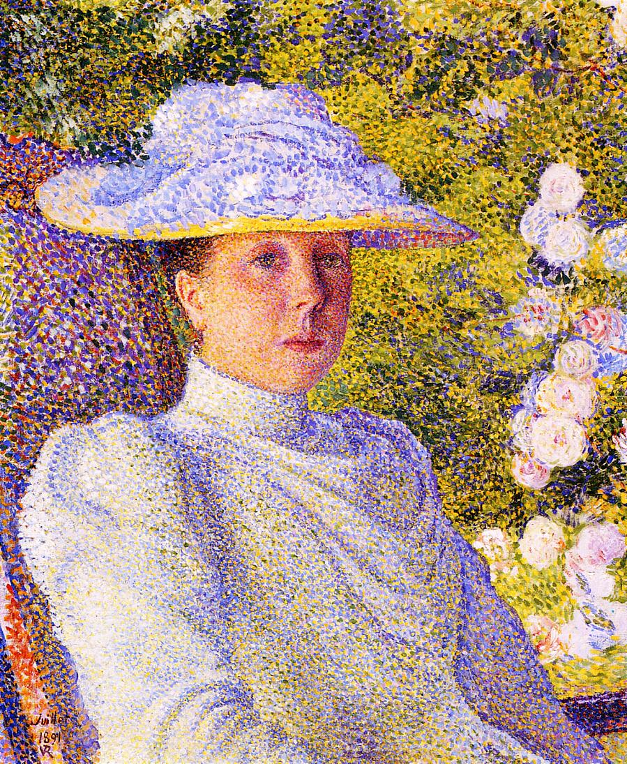 Portrait of Mathilde Vereeken 1891 | Theo Van Rysselberghe | oil painting