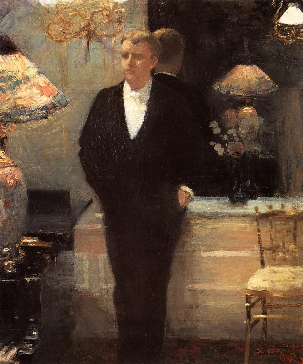 Portrait of Octave Maus 1885 | Theo Van Rysselberghe | oil painting