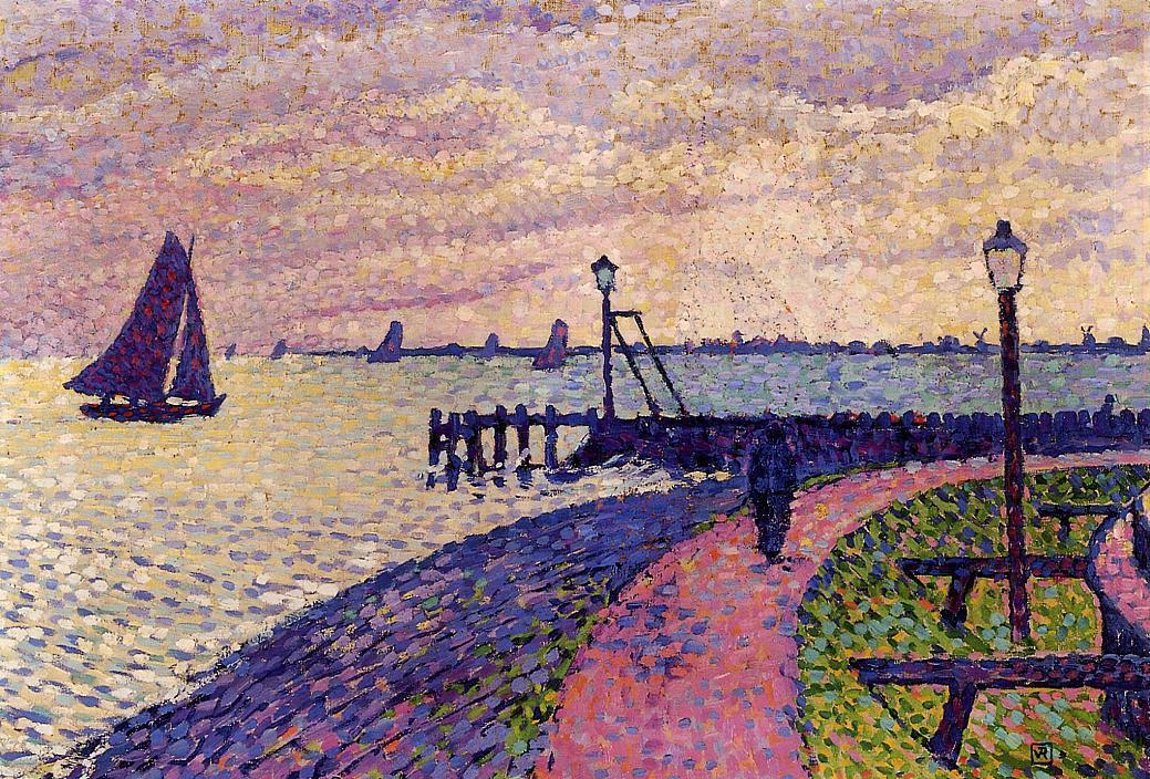 Port Entrance at Volendam 1896 | Theo Van Rysselberghe | oil painting