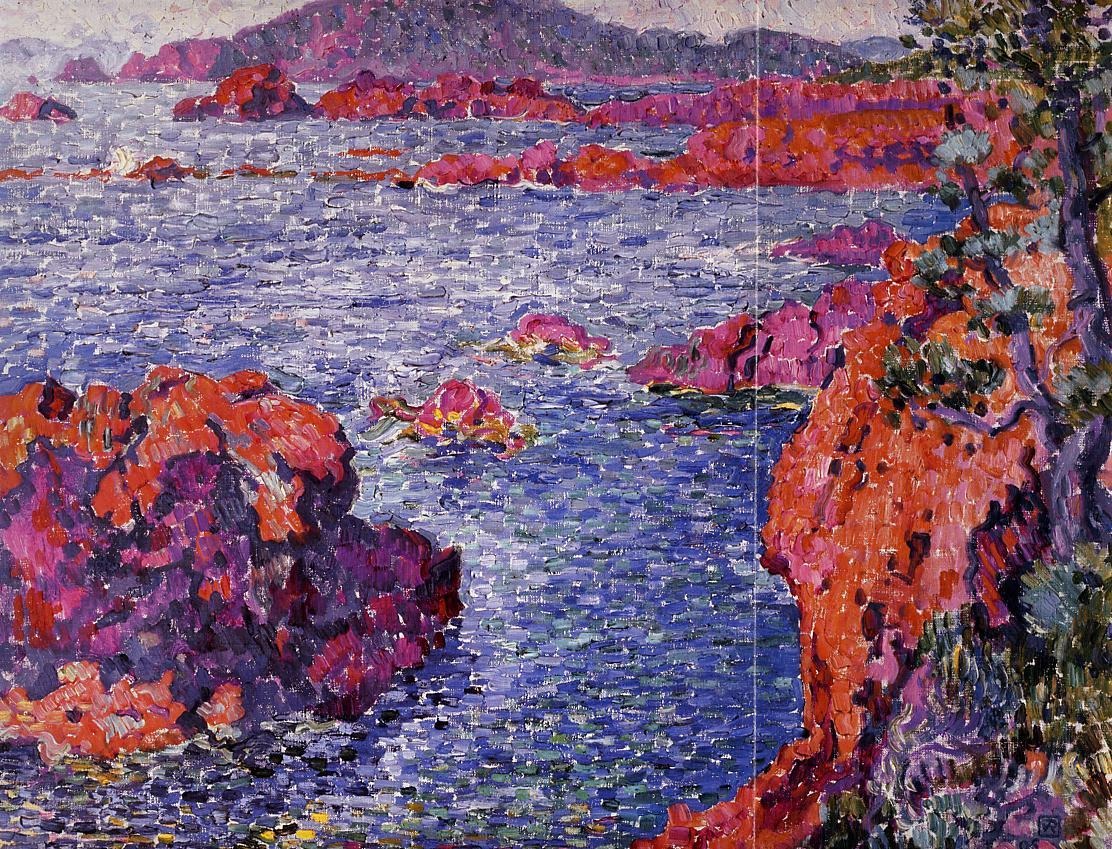 Rocks at Antheor 1906 | Theo Van Rysselberghe | oil painting