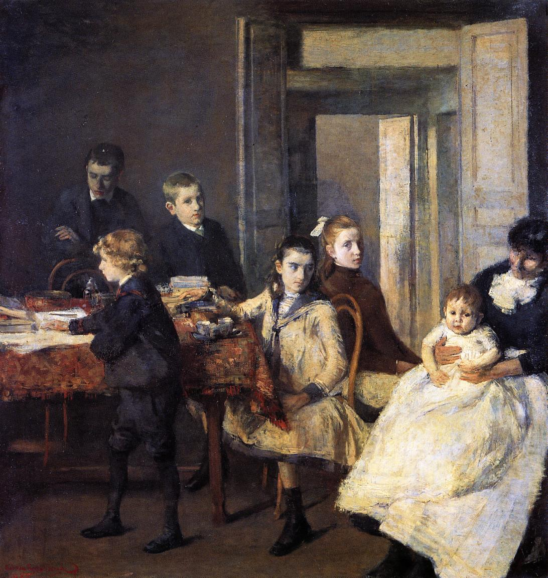 The Children of Francois van Rysselberghe 1885 | Theo Van Rysselberghe | oil painting