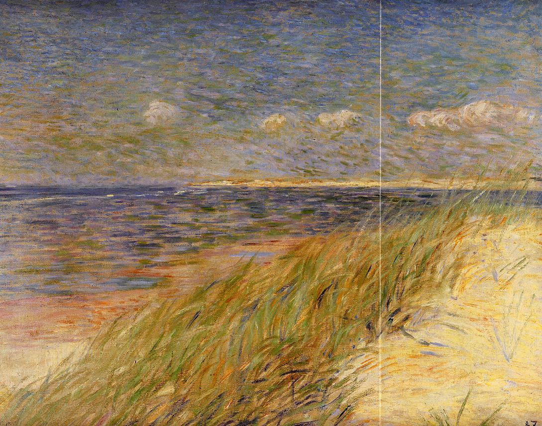 The Dunes of Swin Knokke 1887 | Theo Van Rysselberghe | oil painting
