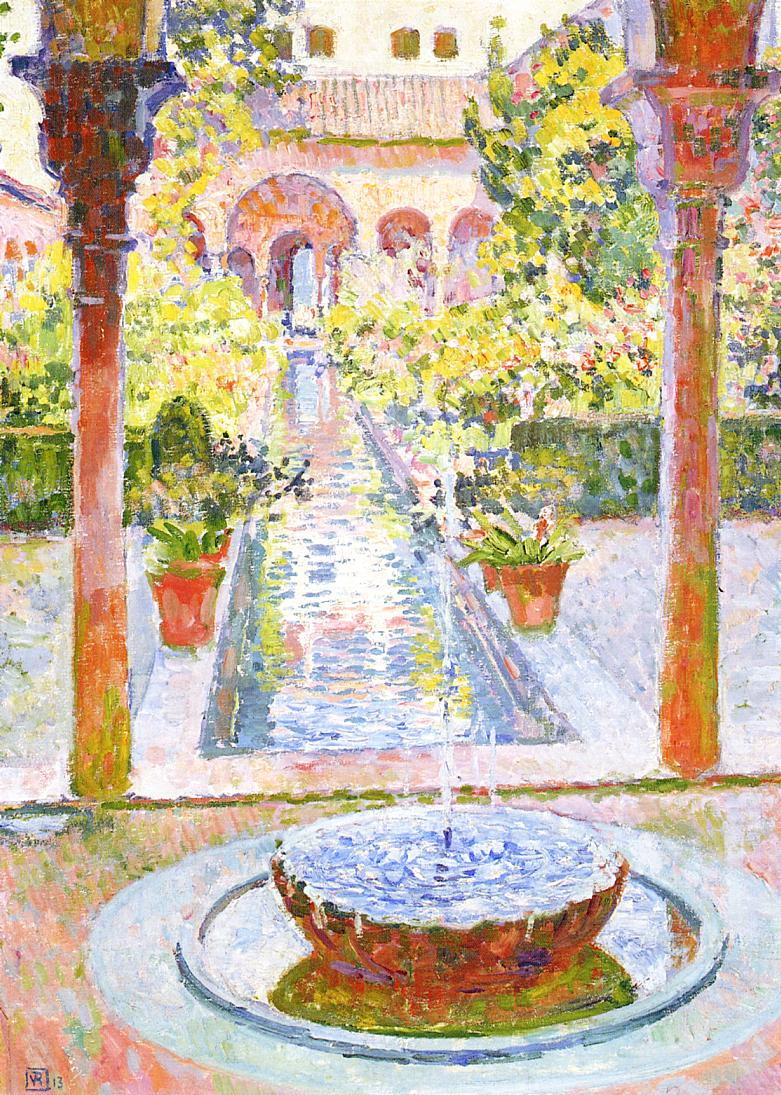 The Gardens of Generalife in Grenada 1913 | Theo Van Rysselberghe | oil painting