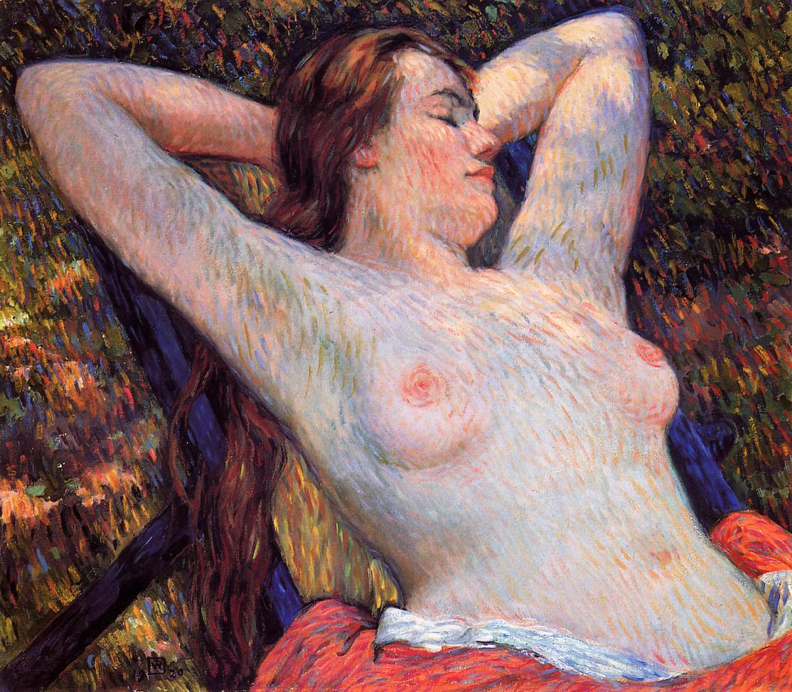 The Model's Siesta 1920 | Theo Van Rysselberghe | oil painting