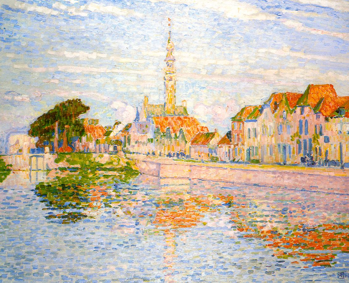 The Quay at Verre Zeeland 1906 | Theo Van Rysselberghe | oil painting