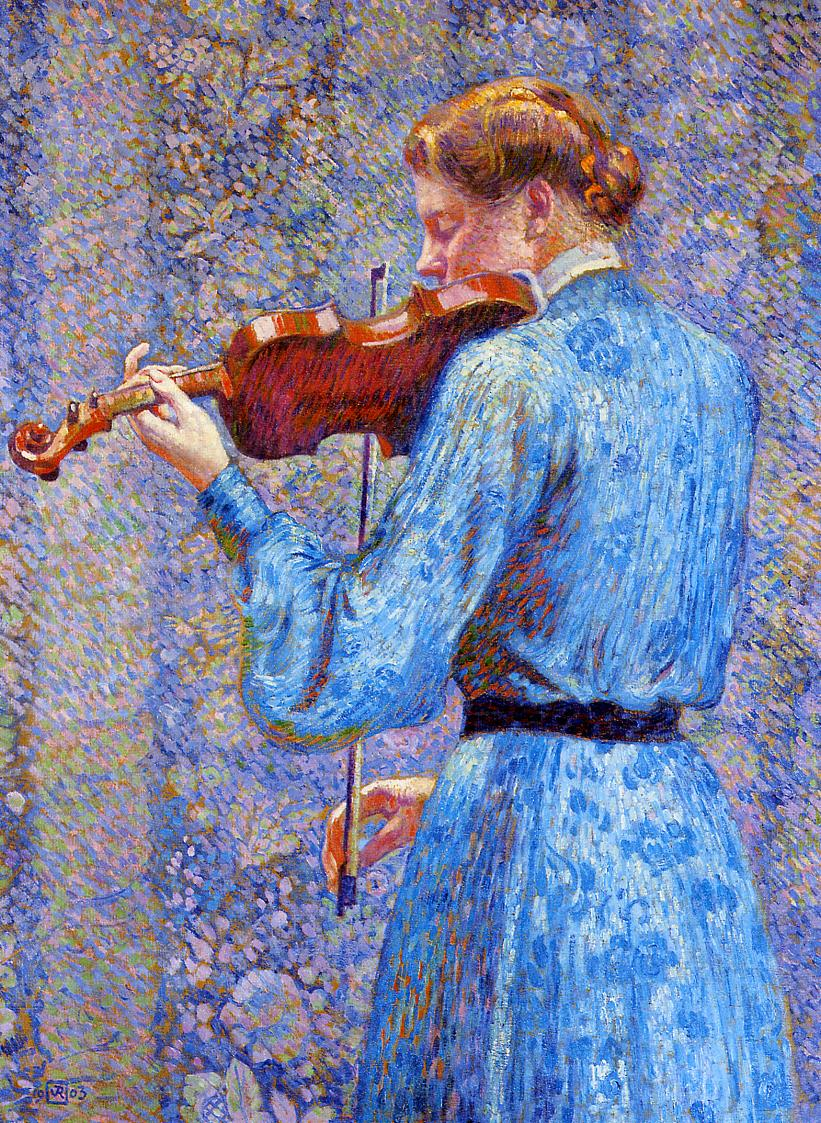 The Violinist 1903 | Theo Van Rysselberghe | oil painting