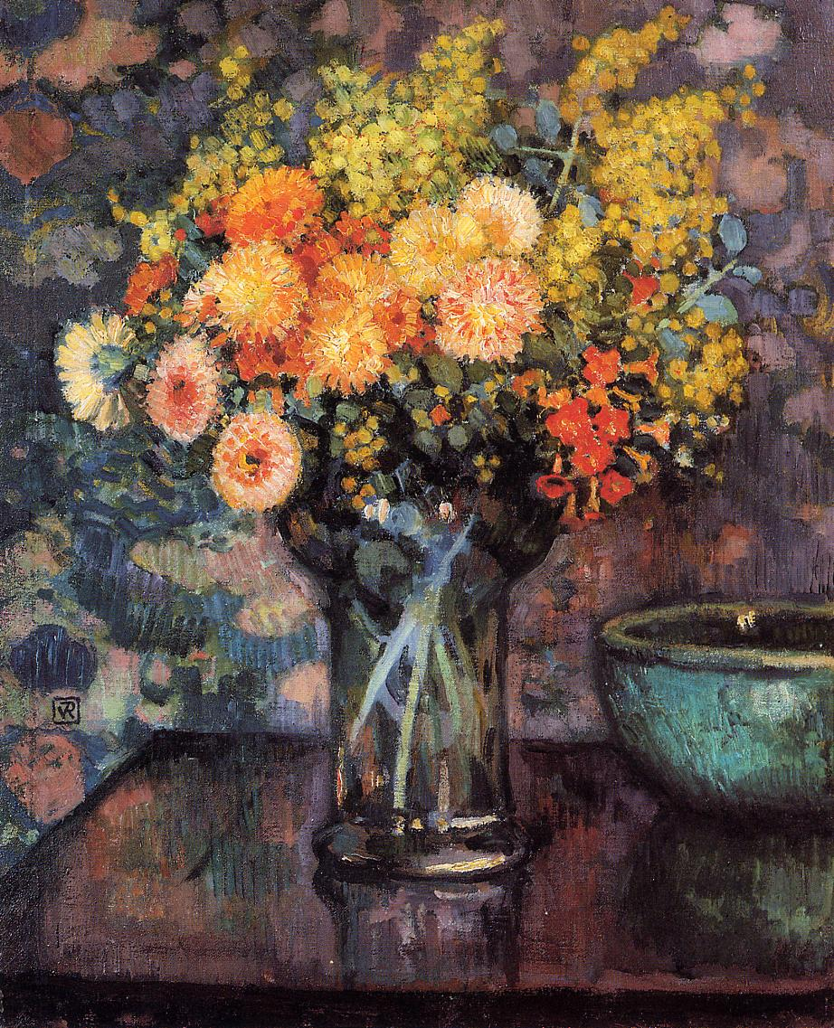 Vase of Flowers 1911 | Theo Van Rysselberghe | oil painting