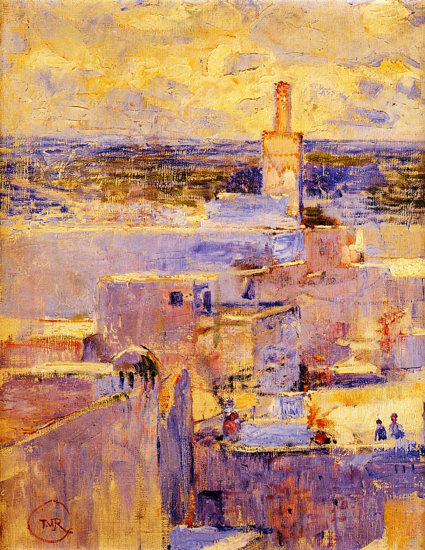 View of Meknes Morocco 1887-1888 | Theo Van Rysselberghe | oil painting