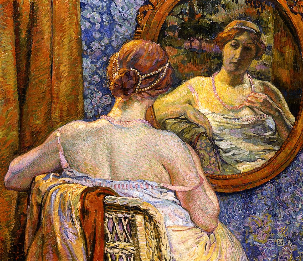 Woman at a Mirror 1907 | Theo Van Rysselberghe | oil painting