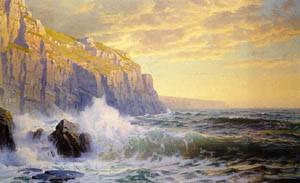 Cornish Headlands Date unknown | William Trost Richards | oil painting