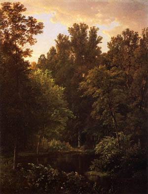 Forest Pool 1866 | William Trost Richards | oil painting