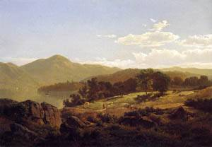 Lake George Opposite Caldwell 1857 | William Trost Richards | oil painting