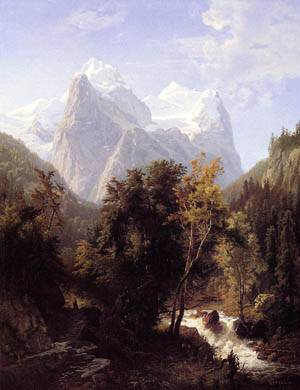 Path Through the Mountains 1858 | William Trost Richards | oil painting