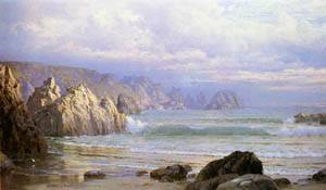 Seascape Along the Cliffs Date unknown | William Trost Richards | oil painting
