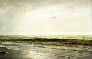 Seascape 1899   William Trost Richards   oil painting