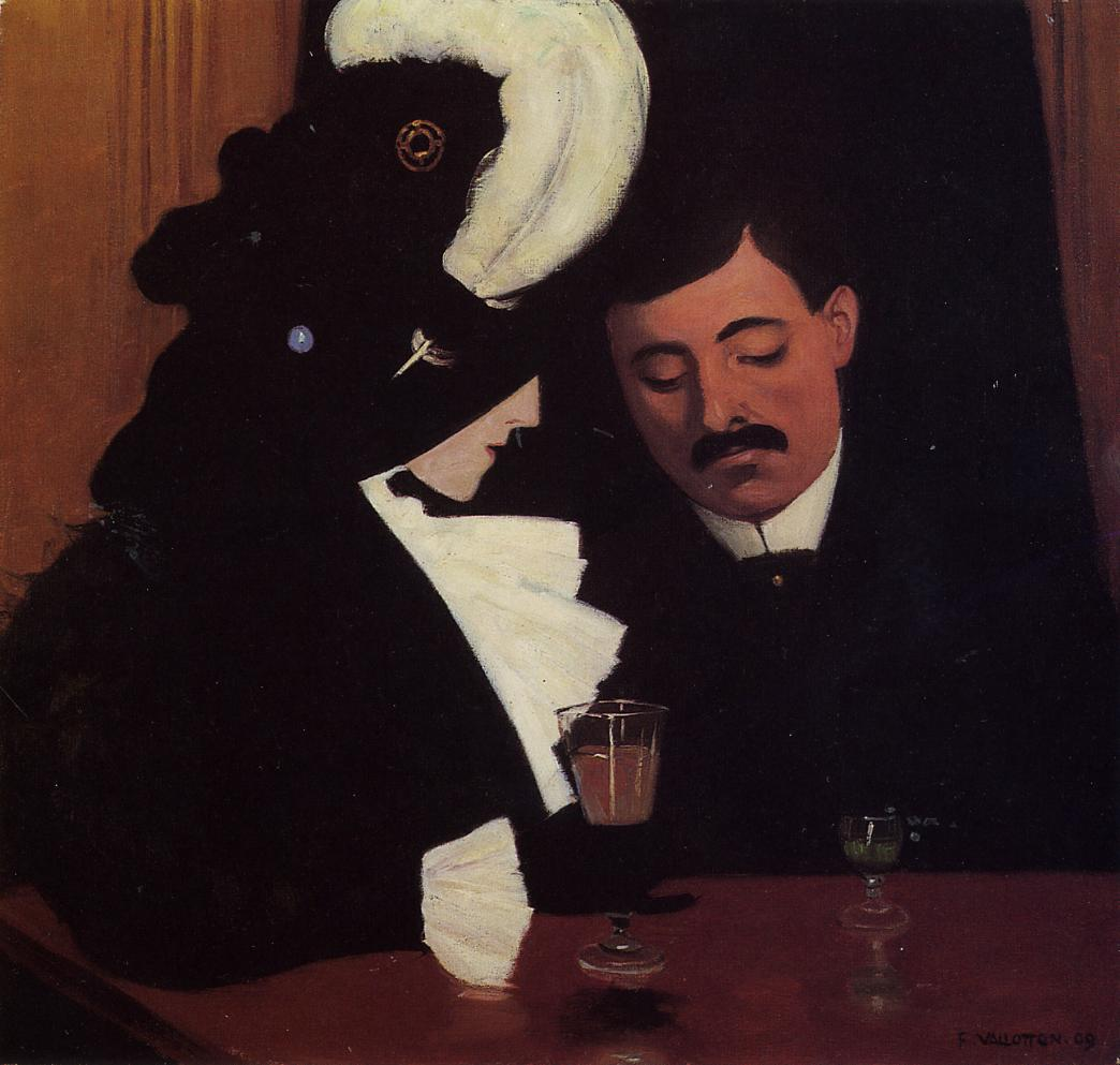 At the Cafe (aka The Privincial) 1909 | Felix Vallotton | oil painting