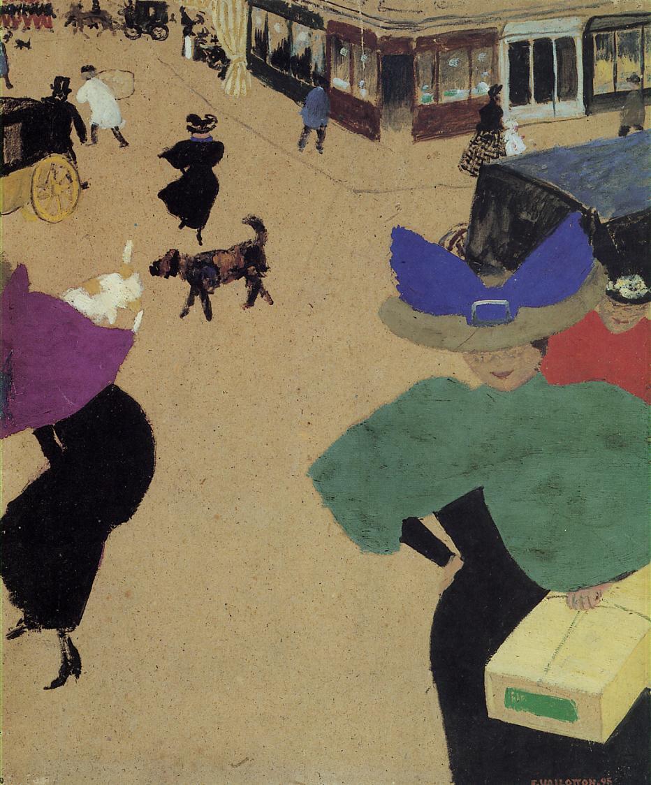 A Street (aka Street Corner) 1895 | Felix Vallotton | oil painting