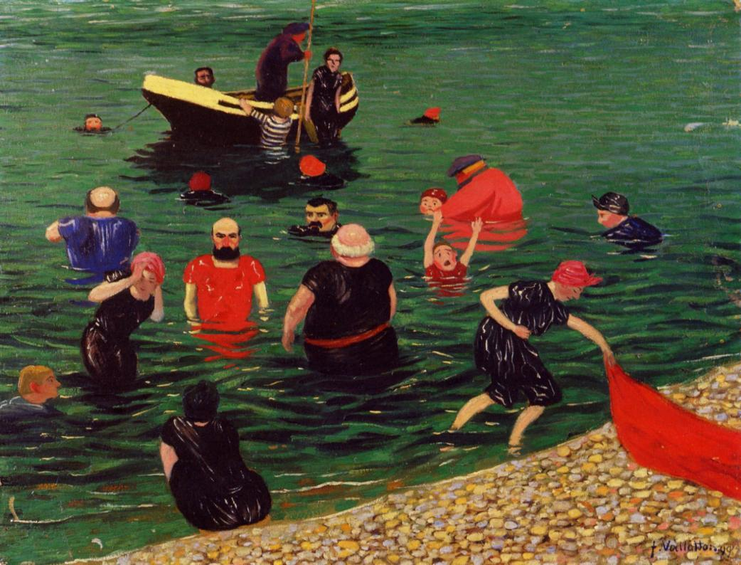 Bathing 1899 | Felix Vallotton | oil painting