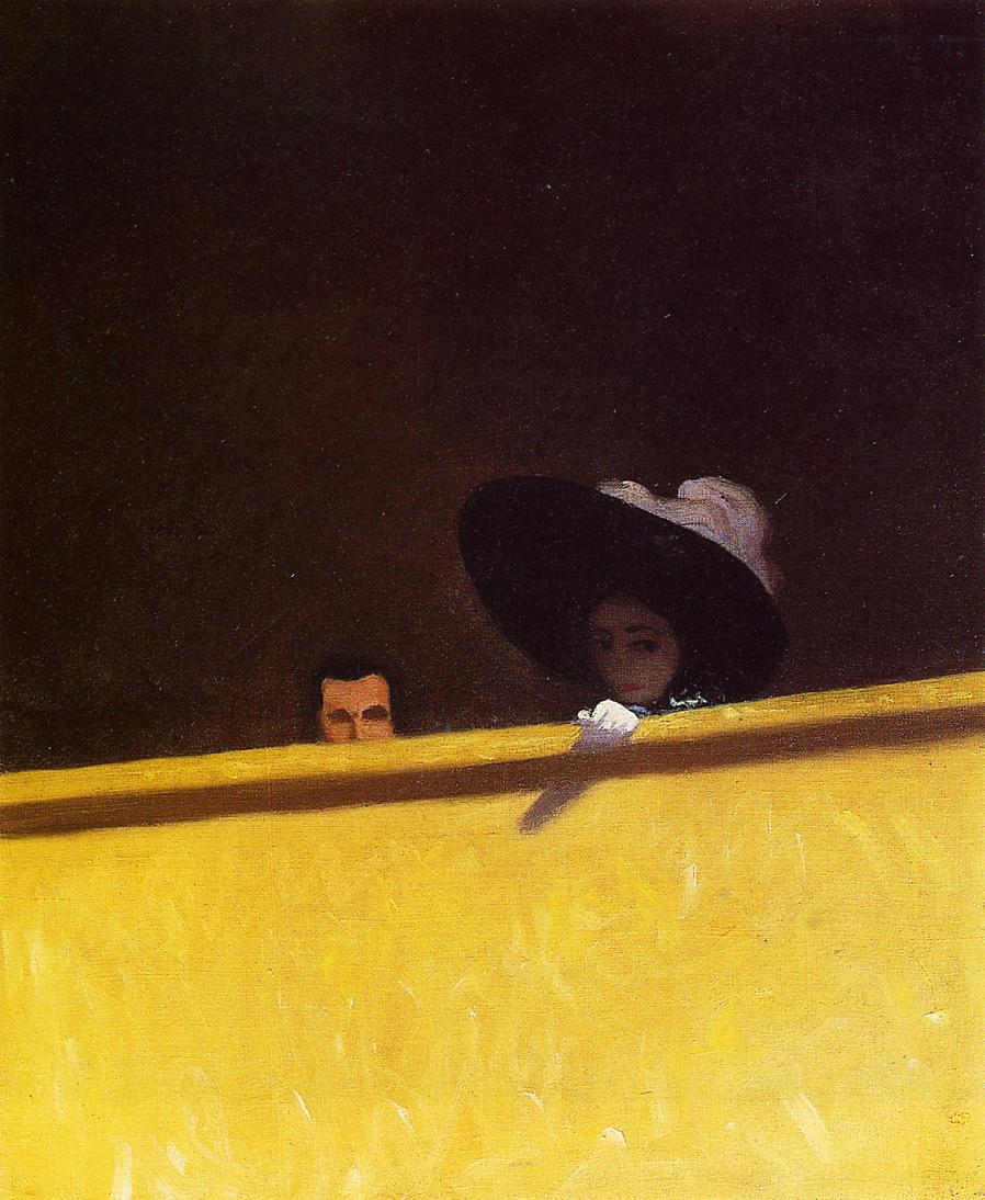 Box Seats at the Theater the Gentleman and the Lady 1909 | Felix Vallotton | oil painting