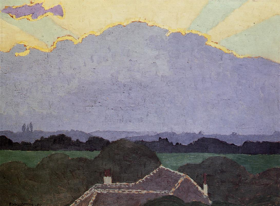 Cloud at Romanel 1900 | Felix Vallotton | oil painting