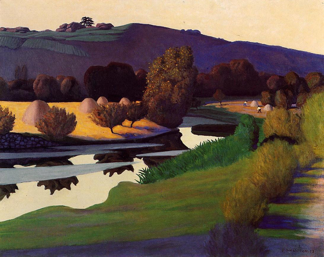Evening on the Loire 1923 | Felix Vallotton | oil painting