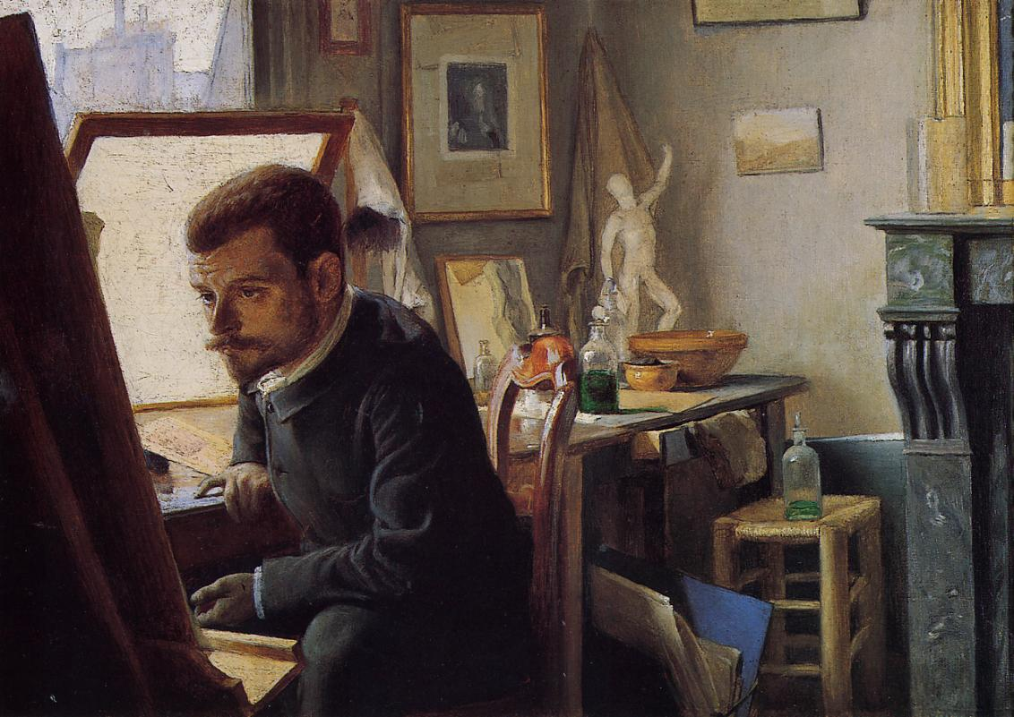 Felix Jasinski in His Printmaking Studio 1887 | Felix Vallotton | oil painting