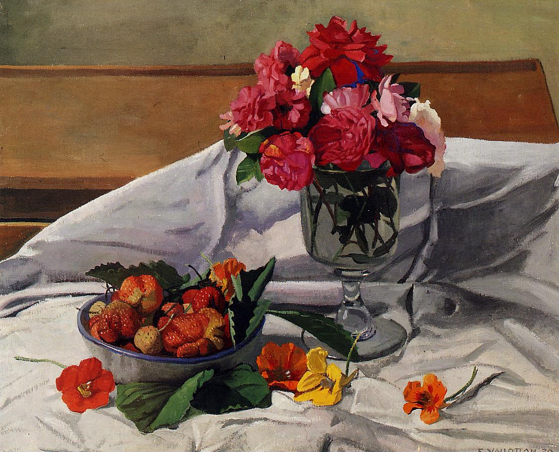 Flowers and Strawberries 1920 | Felix Vallotton | oil painting