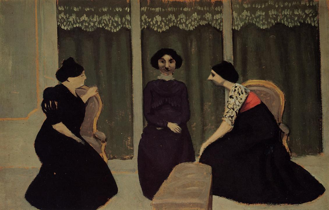 Gossip 1902 | Felix Vallotton | oil painting