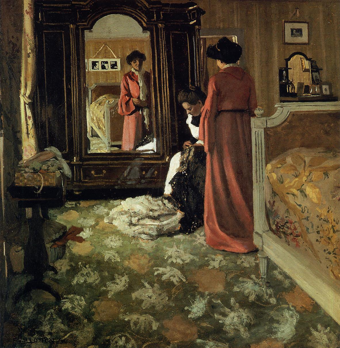 Interior Bedroom with Two Figures 1903-1904 | Felix Vallotton | oil painting