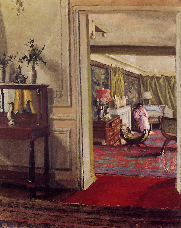 Interior with Woman in Pink 1903-1904 | Felix Vallotton | oil painting