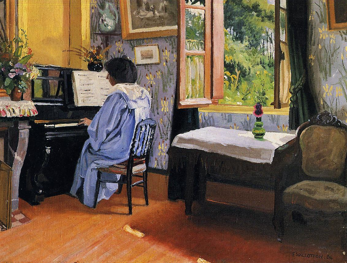 Lady at the Piano 1904 | Felix Vallotton | oil painting