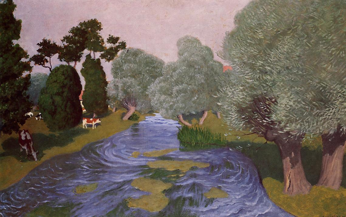 Landscape at Arques-la-Bataille 1903 | Felix Vallotton | oil painting