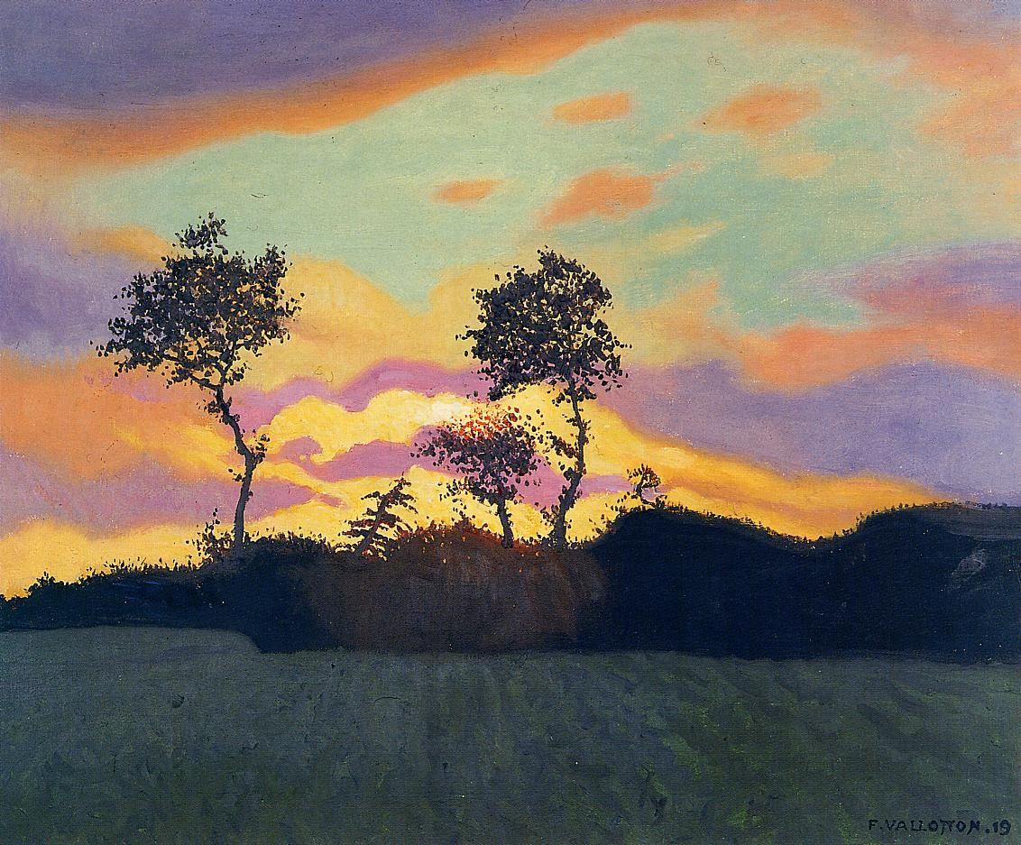 Landscape at Sunset 1919 | Felix Vallotton | oil painting