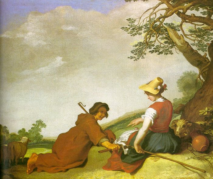 Shepherd and Sherpherdess 1627 | Abraham Bloemaert | oil painting