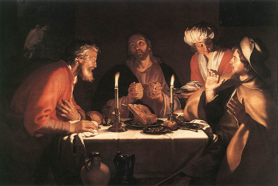 The Emmaus Disciples 1622 | Abraham Bloemaert | oil painting