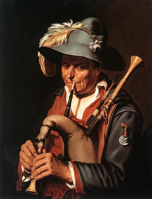 The Bagpiper | Abraham Bloemaert | oil painting