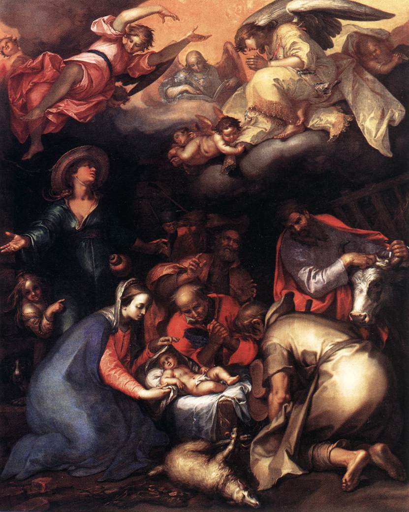 Adoration of the Shepherds 1612 | Abraham Bloemaert | oil painting