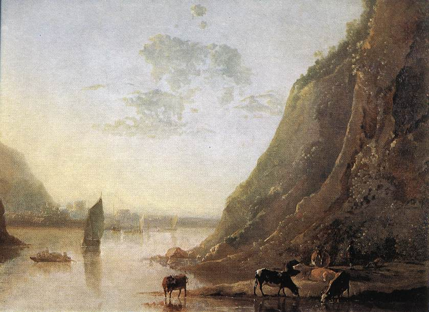 River bank with Cows 1650 | Aelbert Cuyp | oil painting