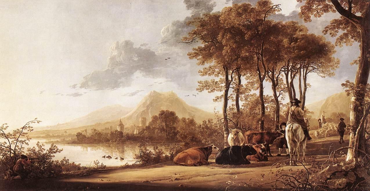 River Landscape 1655 1660 | Aelbert Cuyp | oil painting