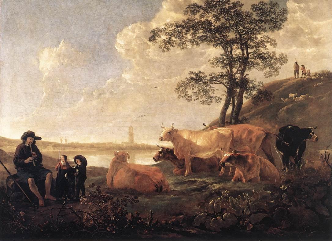 Landscape near Rhenen 1650 1655 | Aelbert Cuyp | oil painting